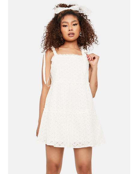 Eyelet Gimme Some Sugar Babydoll Dress