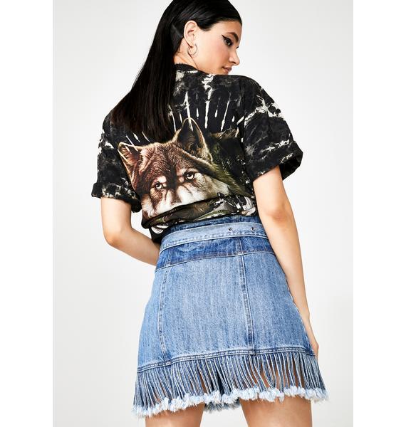 Sassy Slingin' Denim Skirt