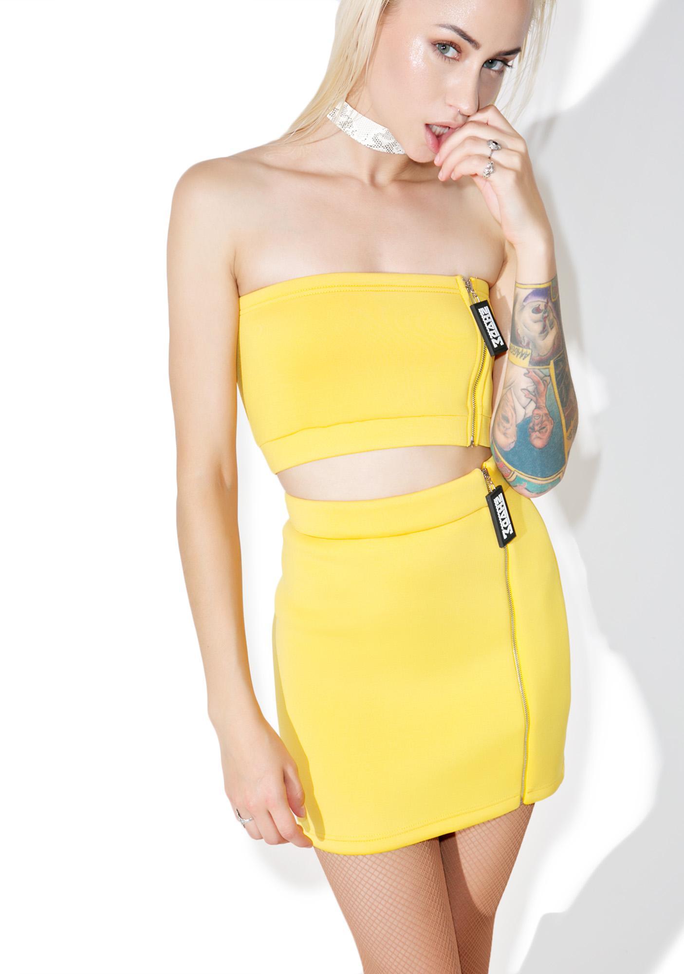Shade London Side Zipper Mini Skirt