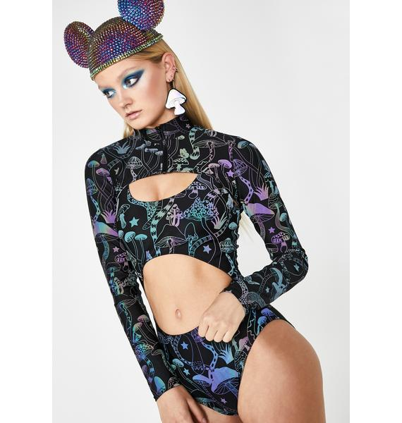 Club Exx Cyber Garden Reflective Shrug