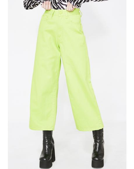 LO Lime Wide Leg Jeans