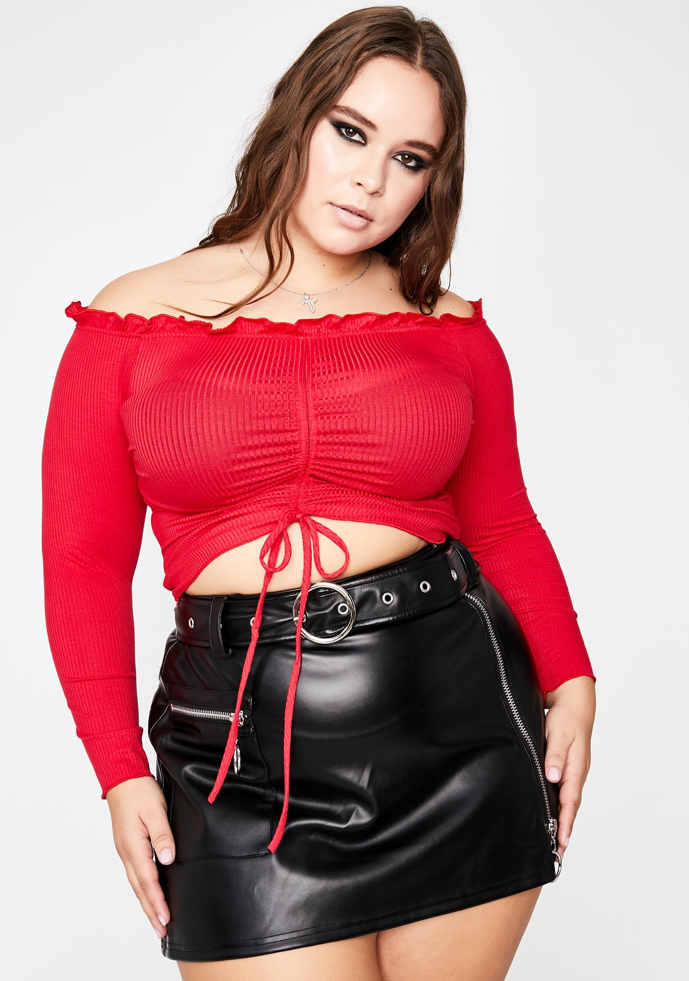 Flame Ready One Two Three Ruched Top