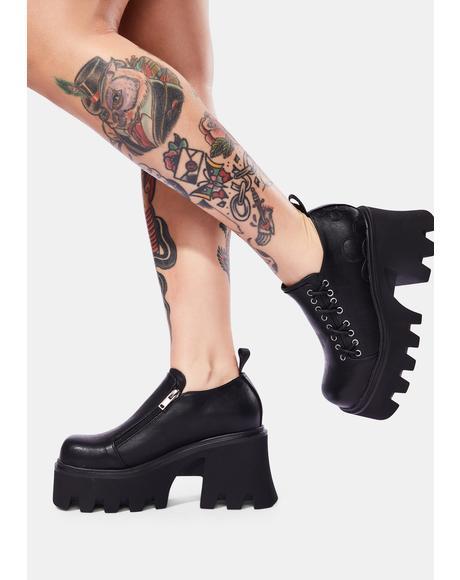 Tie It Up Platform Boots