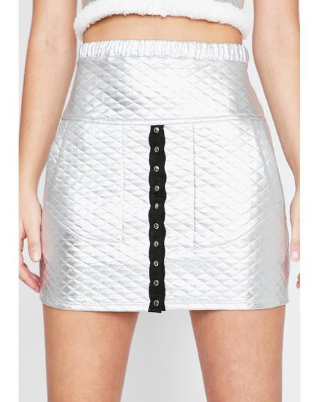 Chrome Gotta Bounce Quilted Skirt