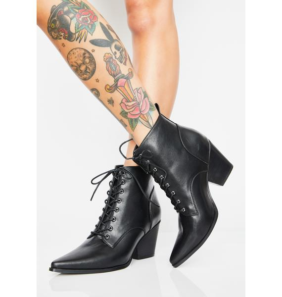 Current Mood Midnight Menace Lace Up Boots