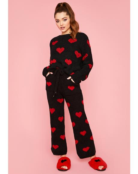 Skippin' Heartbeats Knit Lounge Pants