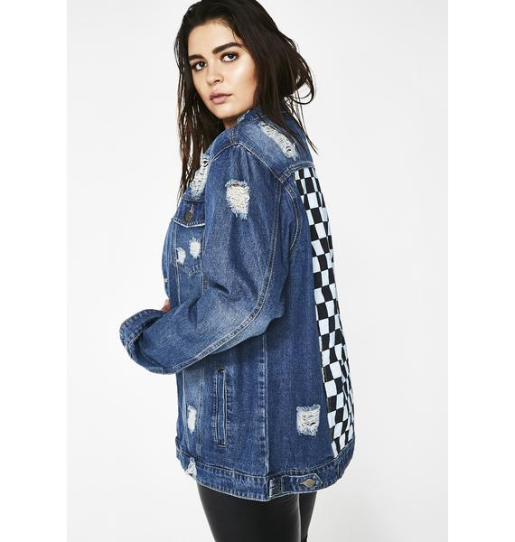 Off To The Races Denim Jacket