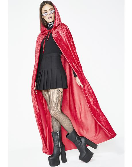 Lit Practical Magick Velvet Cape