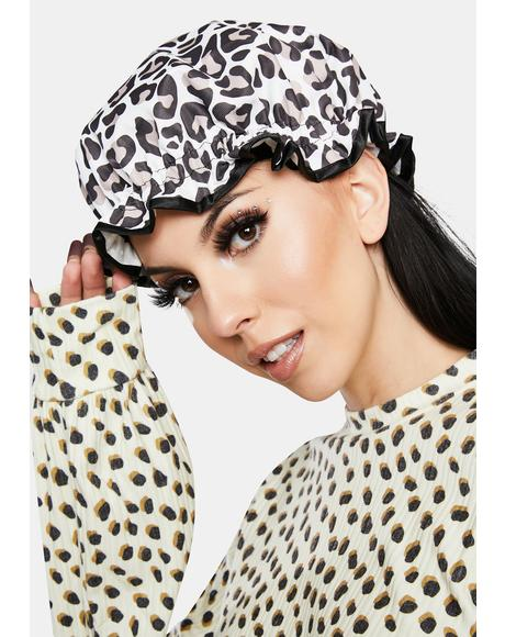 Leopard Shower Cap