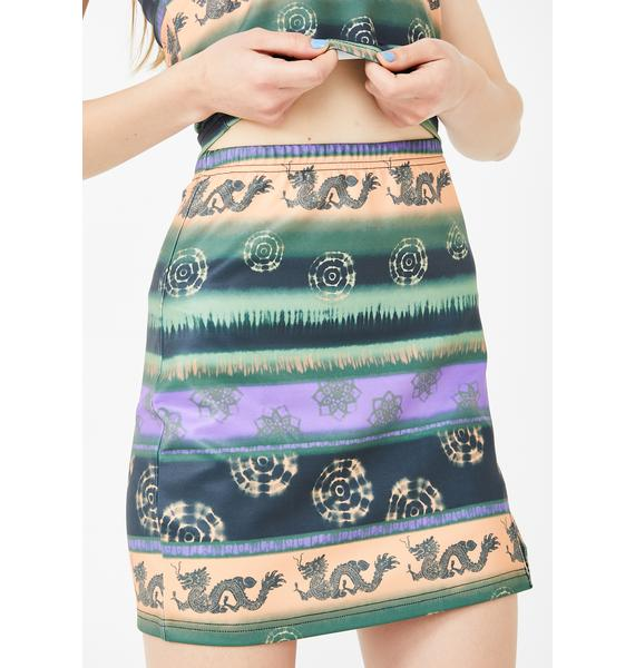 dELiA*s by Dolls Kill Fable Of Luck Mini Skirt