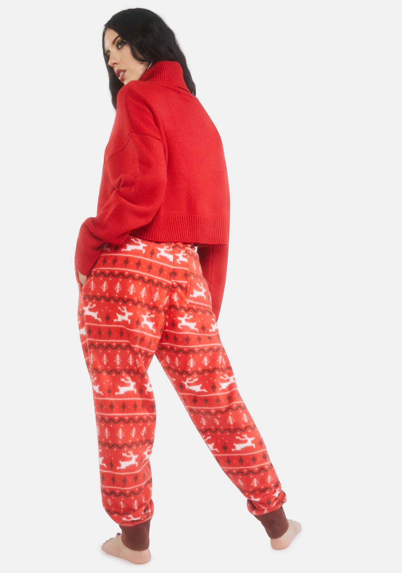 Tipsy Elves Red Reindeer Joggers