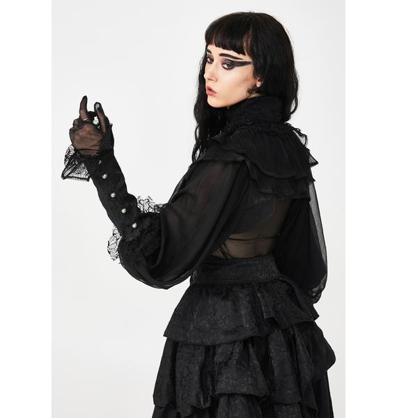 Punk Rave Lolita Big Puff Sleeve Shrug
