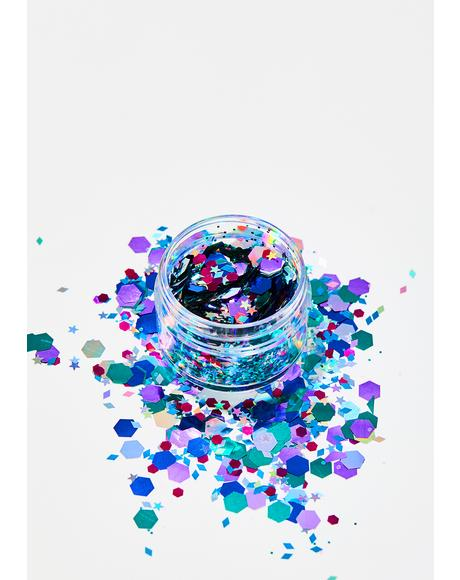 Multi Mix Glitter Pot