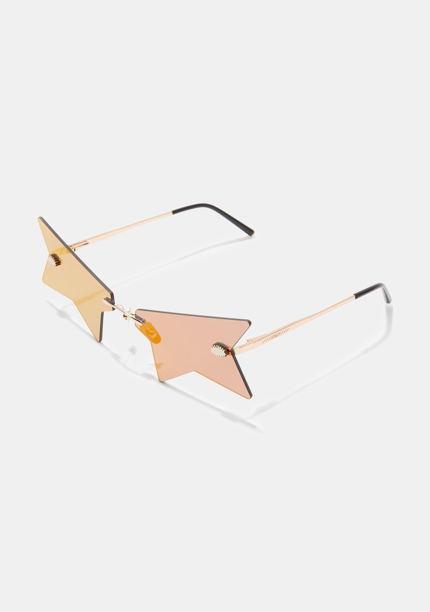 ISLYNYC Amber Rock Star Glasses