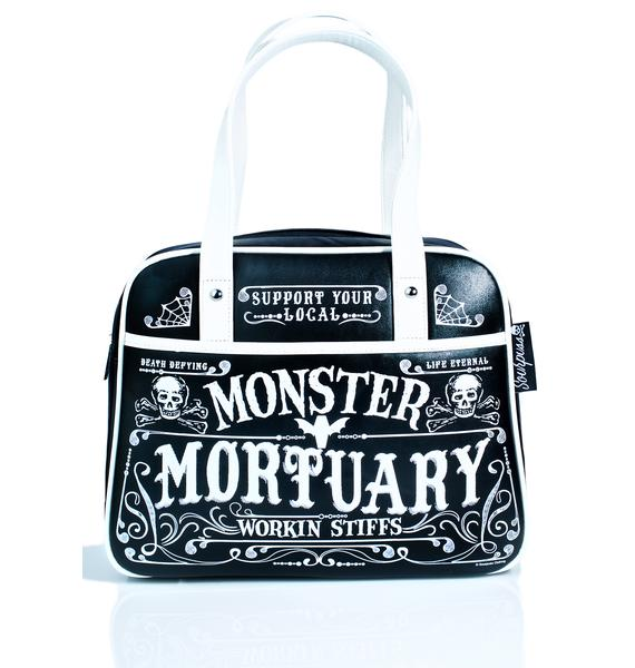 Sourpuss Clothing Monster Mortuary Bowler Purse