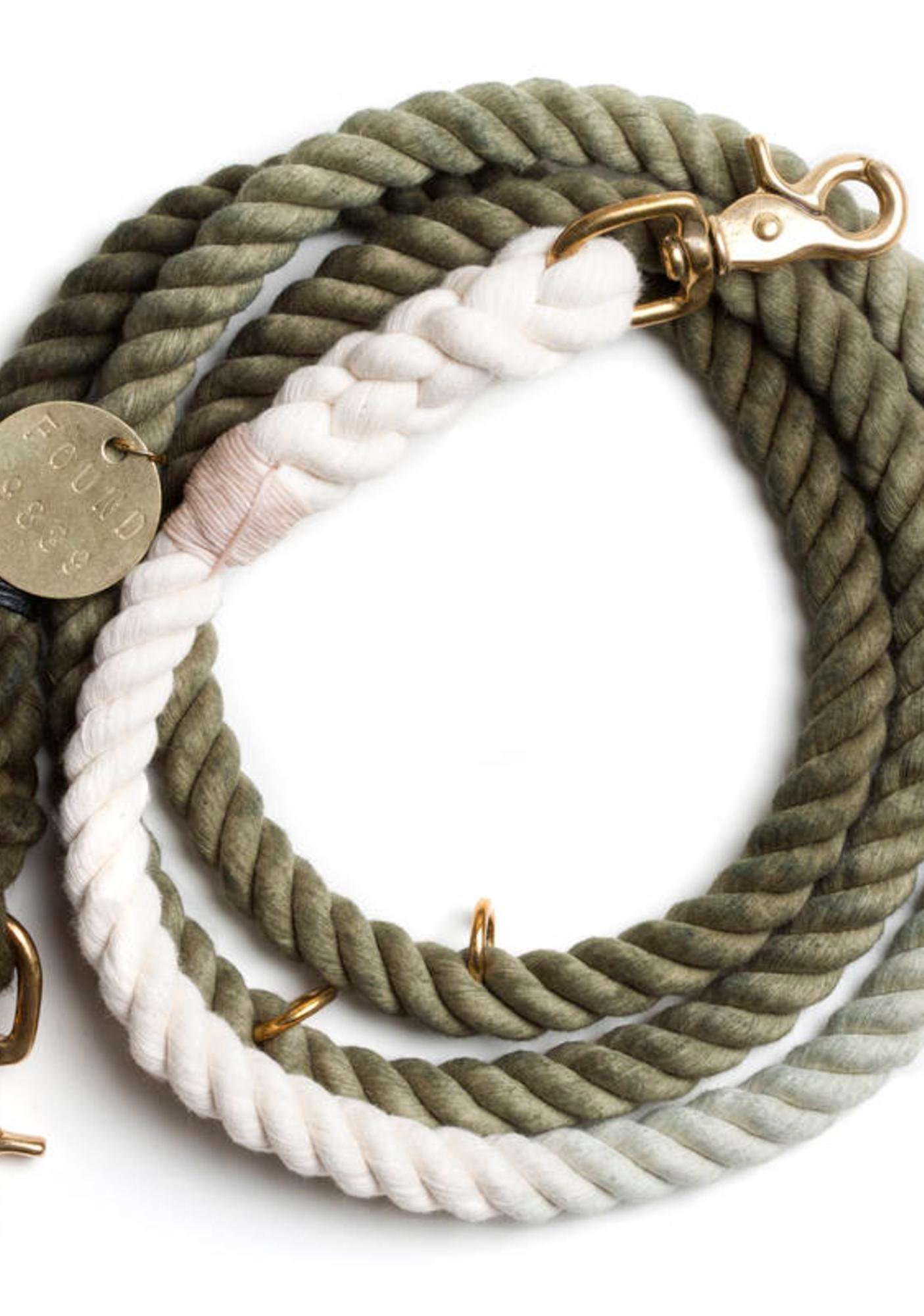 Ombre Fade Brass Dog Leash