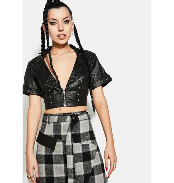 Punk Rave Tank Girl Short Jacket