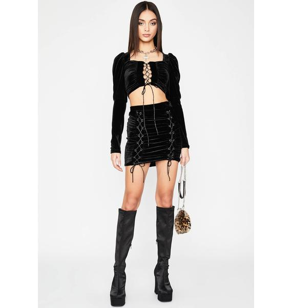 Midnight Get Some Lace-Up Set