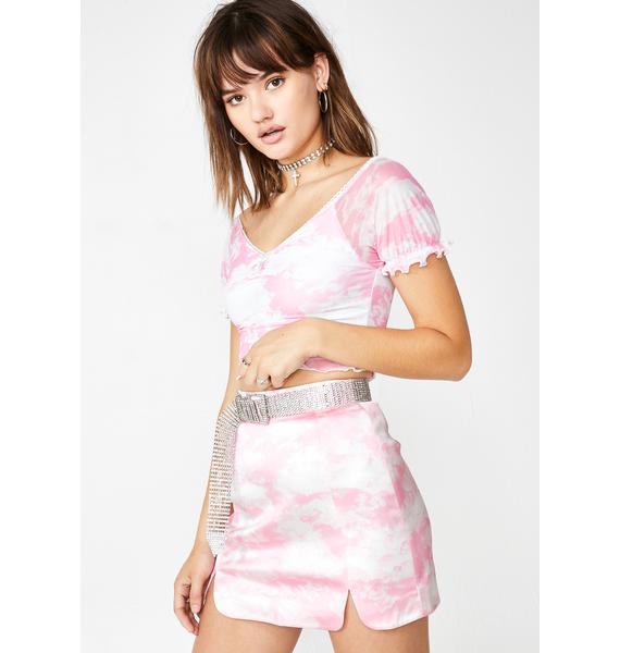 Sugar Thrillz Bliss Vision Satin Skirt
