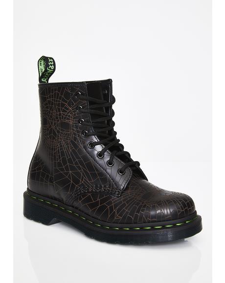 1460 Skull Web Boots