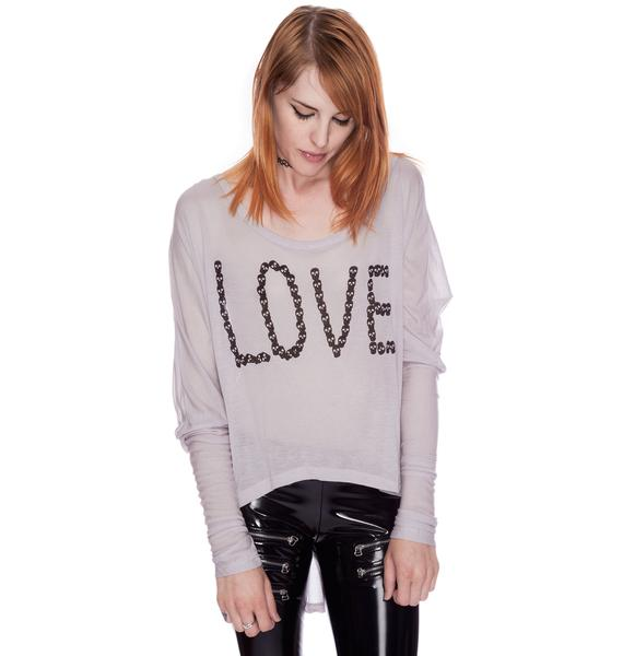 Lafine Love By Skull Long Sleeve Tee