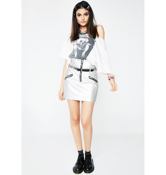 Silver Bad Attitude Mini Skirt