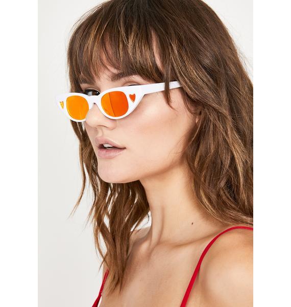 Pure Crazy Love Heart Sunglasses