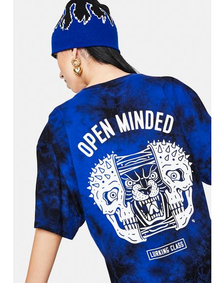 Open Minded Tie Dye Graphic Tee