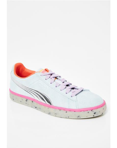 x Sophia Webster Suede Candy Princess Sneakers