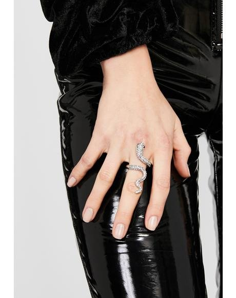 Iron Sinful Serpent Snake Ring