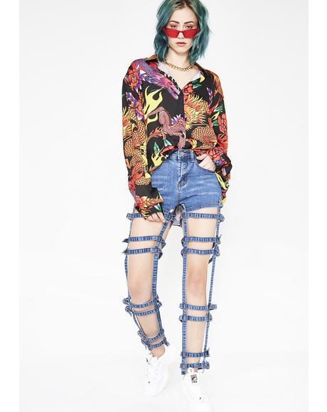 Brace Ya'Self Panelled Jeans