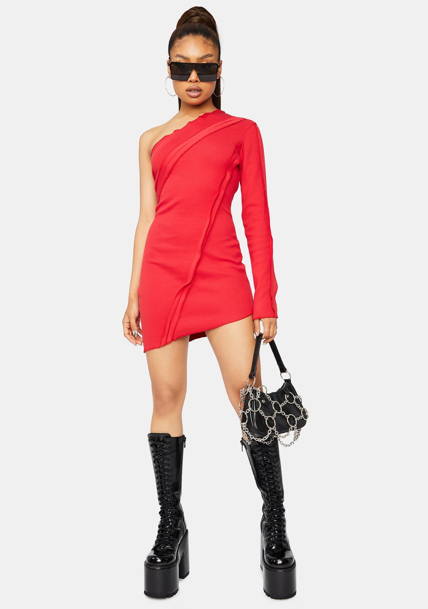Scarlet New Adventures One Shoulder Mini Dress