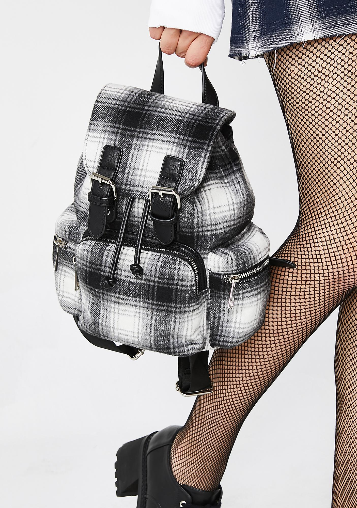 Current Mood Plaid To Be Back Backpack