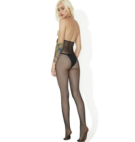 Oh Face Cut-Out Bodystocking