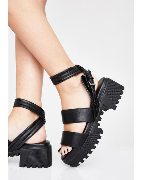 Feisty Fury Platform Sandals