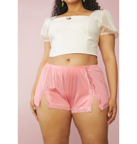 Sugar Thrillz Lady Love In The Willows Satin Shorts