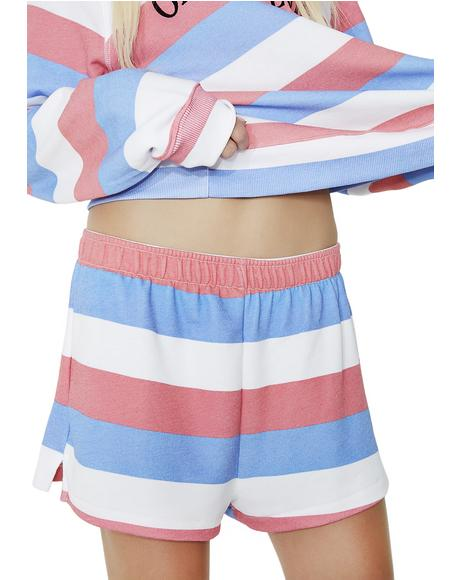Summertime Stripe Golden Shorts