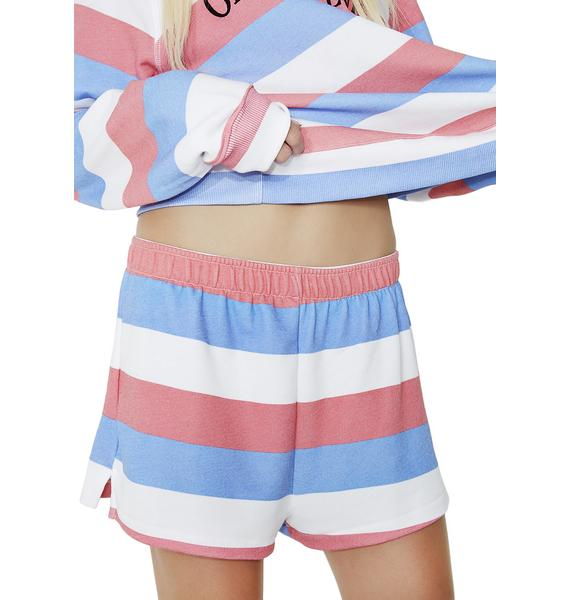 Wildfox Couture Summertime Stripe Golden Shorts