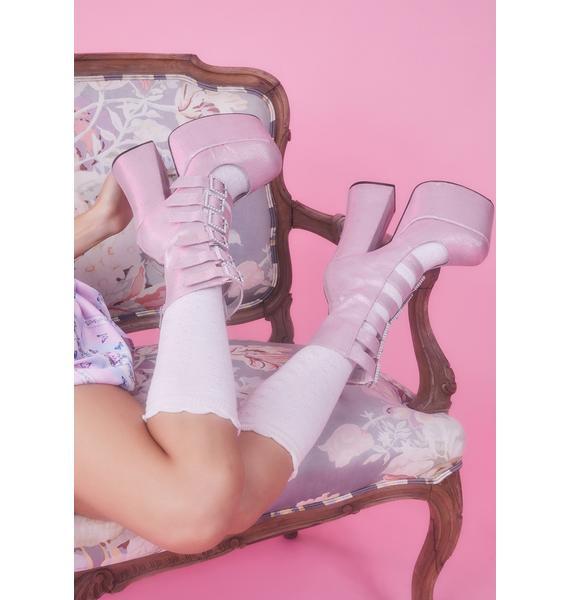 Sugar Thrillz Divine Last Act Platform Buckle Boots