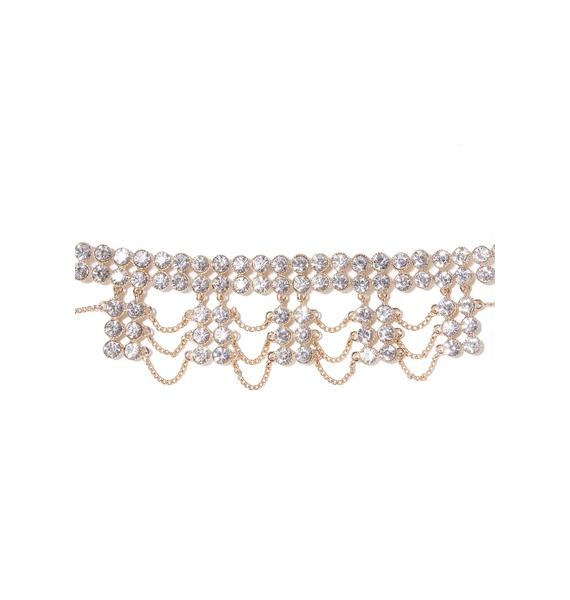 True Royalty Rhinestone Choker