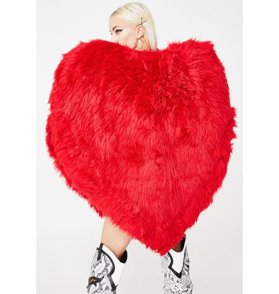Kiki Riki Heart On Fuzzy Jacket