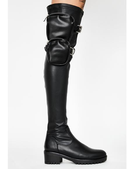 Eureva Utility Knee High Boots