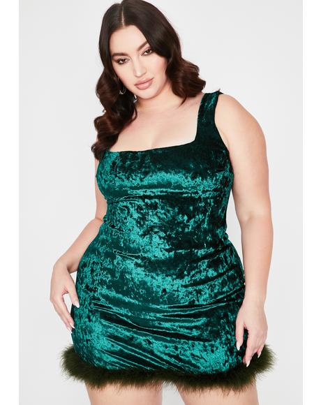 Emerald I Still Look Pretty Velvet Dress