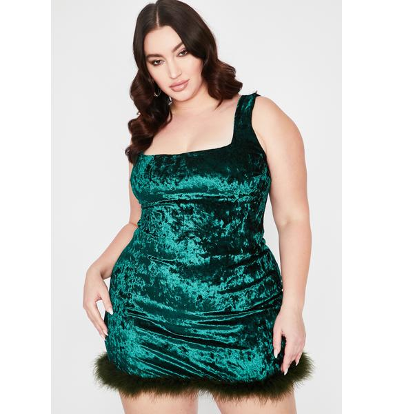 Emerald I Still Look Pretty Velvet Dress