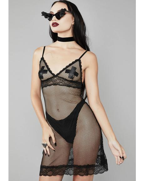 Blood Thirsty Fishnet Dress
