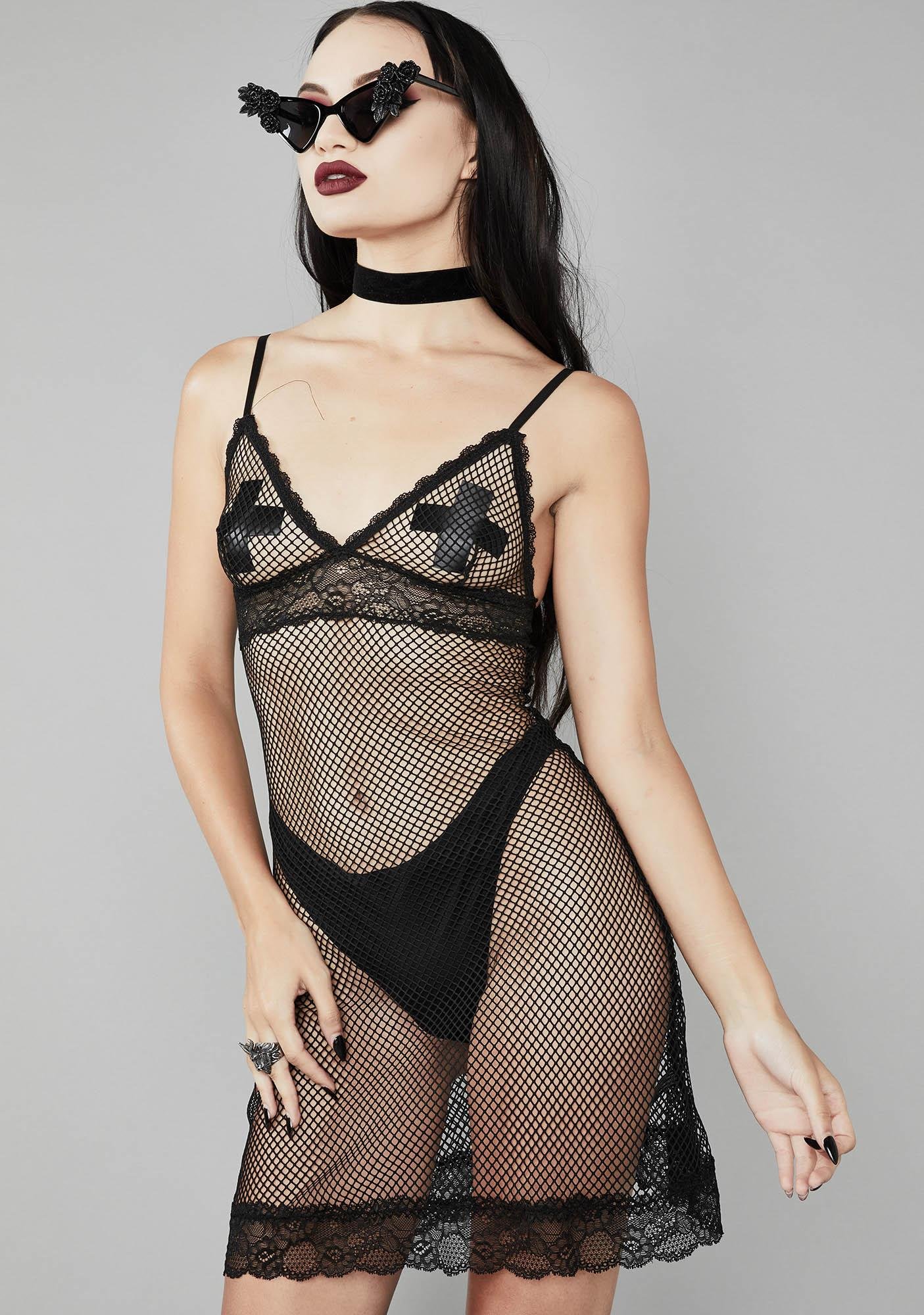 Widow Blood Thirsty Fishnet Dress