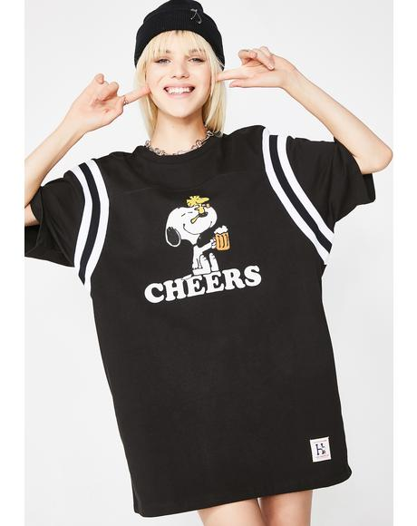 Peanuts Cheers Football Jersey