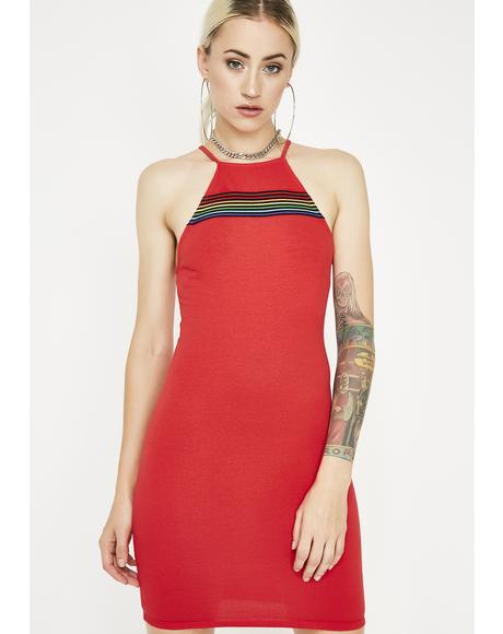 Cherry Dose Of Sunshine Bodycon Dress