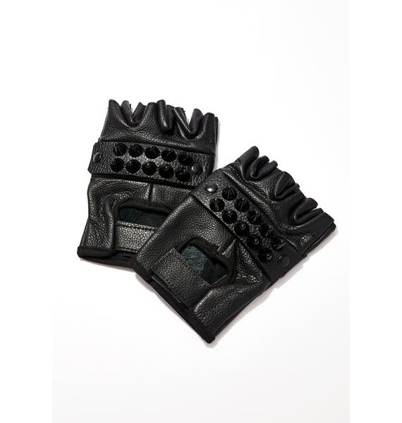 Ruff Rider Studded Gloves