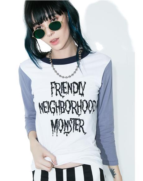 Friendly Neighborhood Monster Raglan Tee